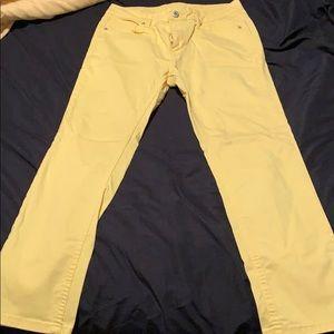 Liz Claiborne yellow crop pants